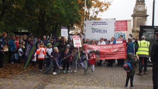 Save South Tyneside Hospital march
