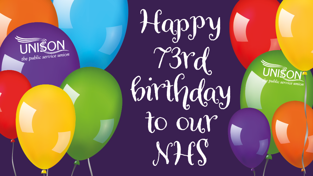 An image of balloons to celebrate the NHS 73rd birthday